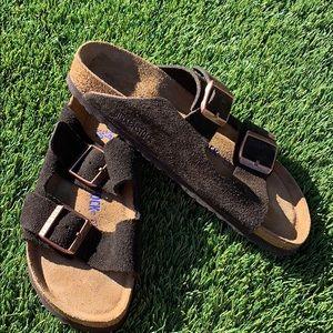 Birkenstock 'Arizona' Footbed Suede Sandal